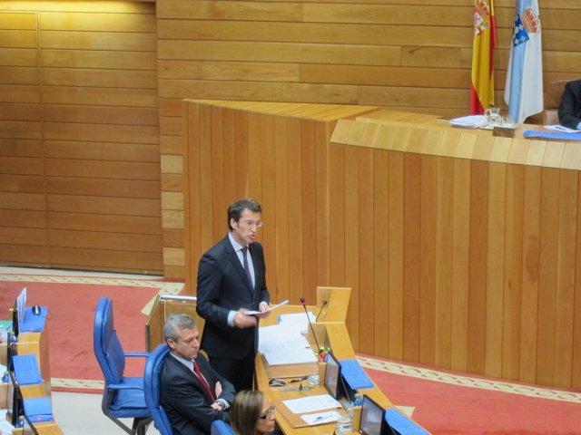El presidente de la Xunta en el Parlamento.