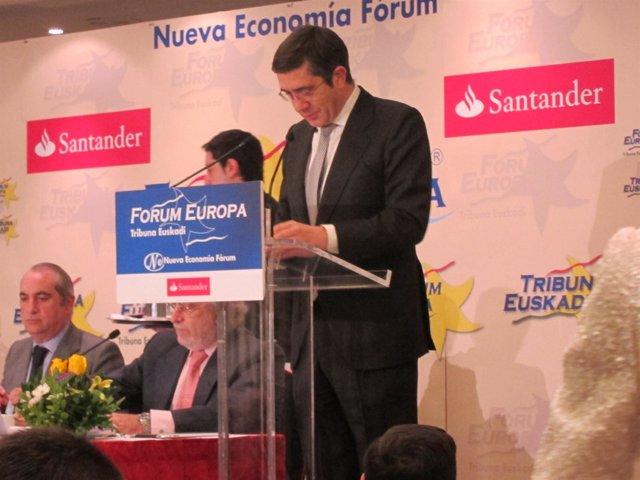Patxi López En El Fórum Europa Tribuna Euskadi.