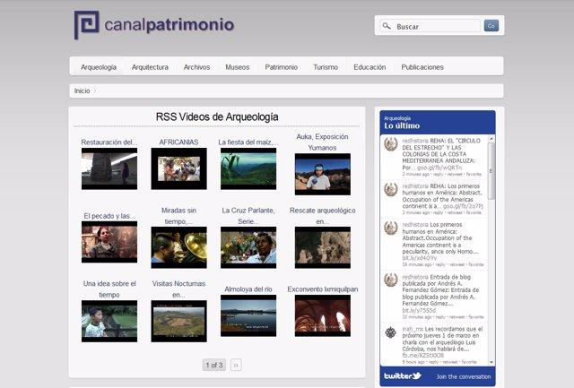 Pantallazo Del Nuevo Canal Patrimonio
