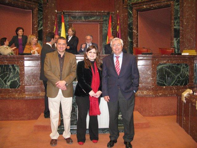 José Antonio Pujante, María Teresa Marín Y Antonio Martínez Bernal