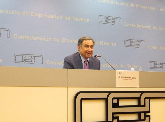 El Presidente De La Confederación De Empresarios De Navarra, José Antonio Sarría