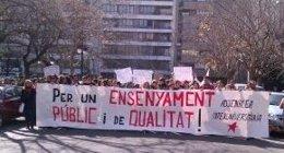 Inicio De La Marcha De Los Estudiantes En Valencia