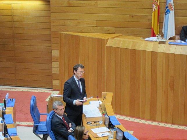 El presidente de la Xunta en el Parlamento gallego.