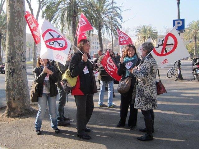 Protesta Ante El TSJC De Profesores De La Concertada