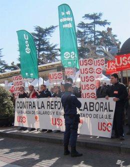 USO Protesta Contra Los Recortes Y La Reforma Laboral