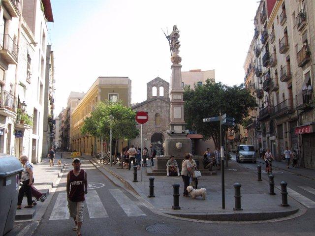 Plaza Del Padró. Raval. Ciutat Vella. Barcelona