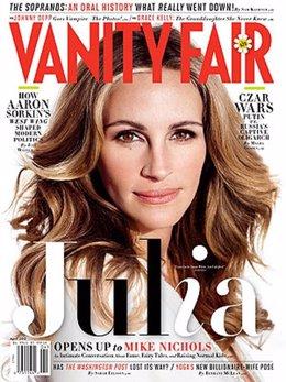 Julia Roberts En La Portada De Vanity Fair