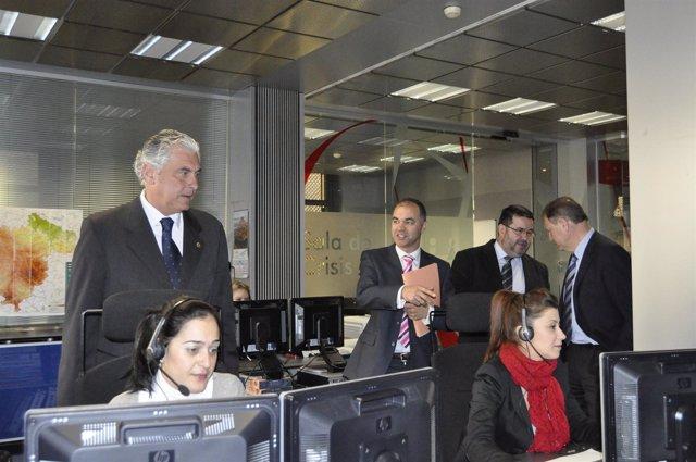 El Consejero Antonio Suárez Visita Las Dependencias Del 112