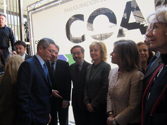Gallardón, Aguirre Y Botella En La Nueva Sede Del COAM