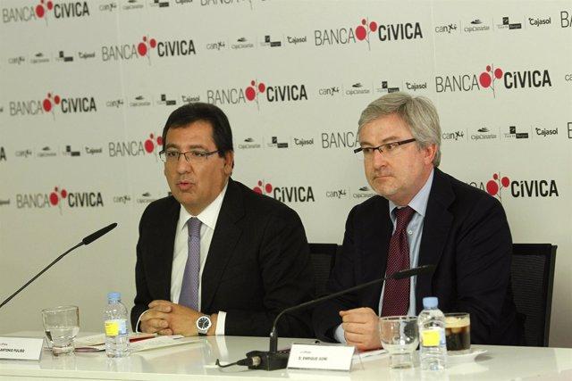 Antonio Pulido Y Enrique Goñi, Copresidentes De Banca Cívica