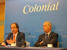 El Consejero Delegado De Colonial Pere Viñolas Y El Presidente Juan José Brugera