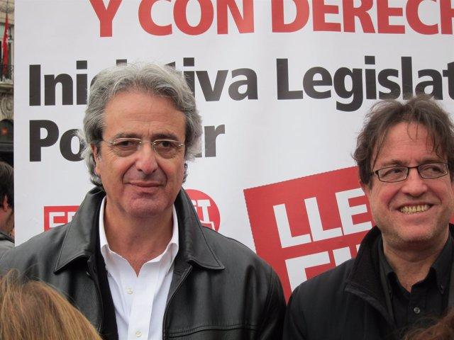 José Ricardo Martínez (UGT) y Javier López (CCOO)