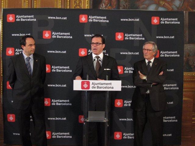 Jaume Ciurana, Bernardo Laniado-Romero (Picasso) Y Xavier Trias