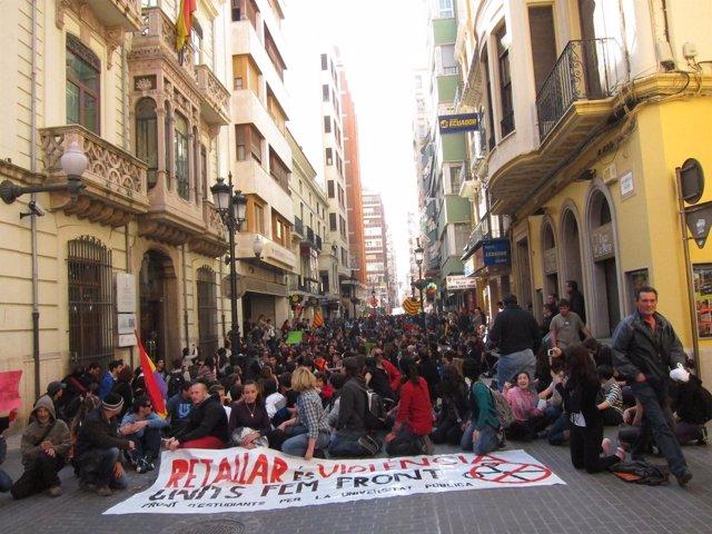 Manifestación De Estudiantes En Castellón