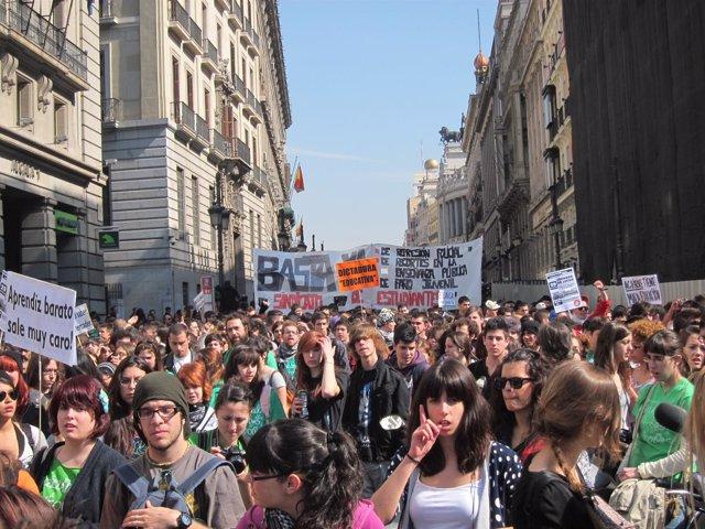 Mnifestación De Estudiantes En Madrid