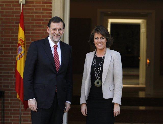 Mariano Rajoy Se Reúne Con Yolanda Barcina En La Moncloa