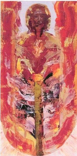 Una De Las Obras De 'Los Hombres Que Miran Al Sol'