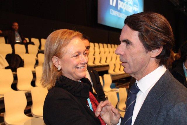 Mercedes Fernández, En Sevilla Junto A José María Aznar