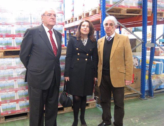Jorge Hernández Mollar Y Carmen Crespo Visitan Bancosol