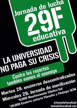 Cartel De La Concentración De Estudiantes Universitarios