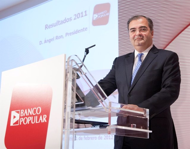 El Presidente De Banco Popular, Ángel Ron