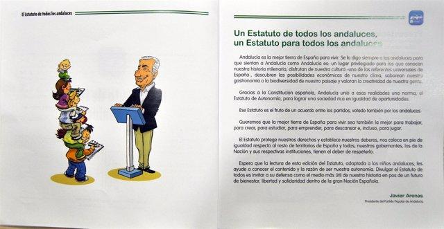 Una De Las Hojas Del Cómic Denunciado Por El PSOE.