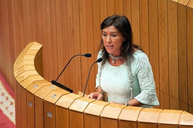 La Conselleira De Traballo, Beatriz Mato, En El Parlamento.