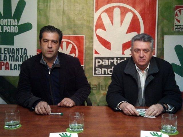 El Coordinador Provincial Del PA. Francisco Ramos, En Rueda De Prensa.