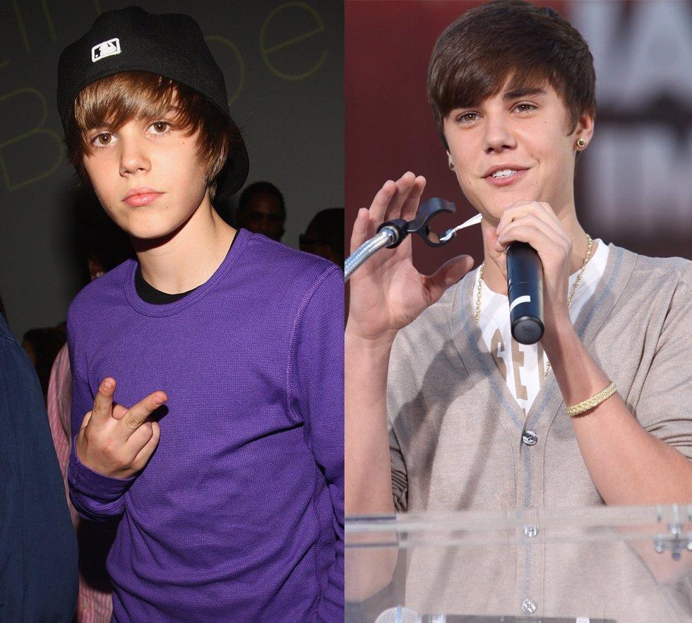 Montaje De Justin Bieber, De Niño A Hombrecito