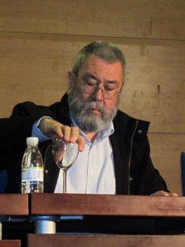 El Secretario General De UGT, Cándido Méndez, En La Rueda De Prensa.