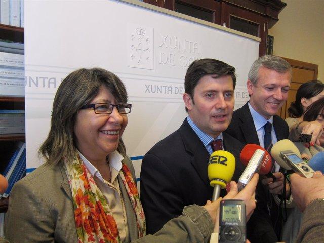 El Delegado Del Gobierno, Entre Los Conselleiros De Medio Rural Y Presidencia