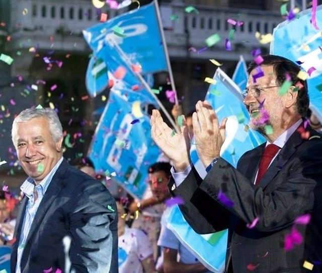 Arenas Y Rajoy, En Un Acto