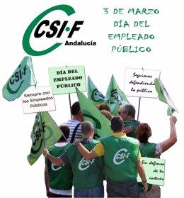 Cartel De CSIF Para El Día Del Empleado Público 2012