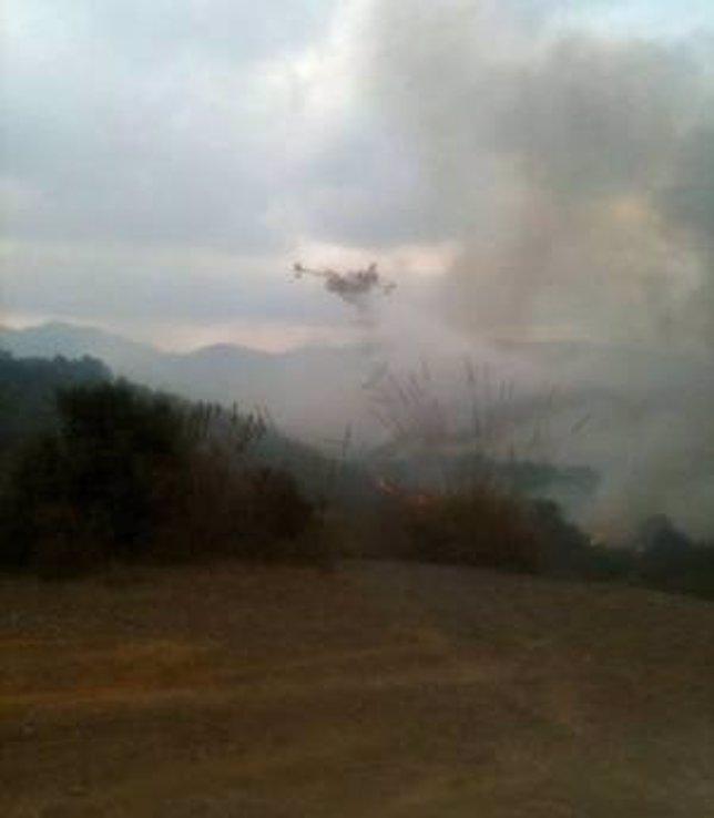 Incendios En La Sierra Atamaría, En Cartagena