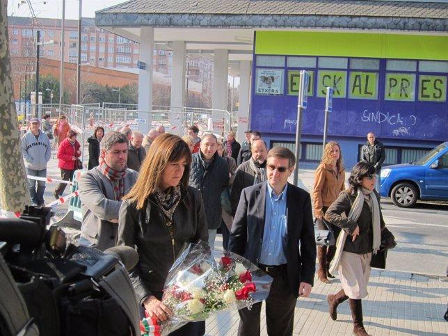 Idoia Mendia En El Homenaje A Las Víctimas Del 3 De Marzo