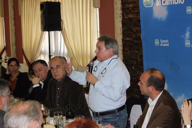 Rus Junto A Blasco En El Almuerzo Del PP En Llosa De Ranes