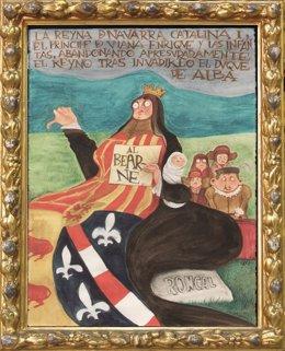 Uno De Los Retratos De La Exposición De César Oroz.