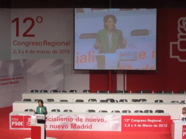 Pilar Sánchez Acera En El 12º Congreso Del PSM