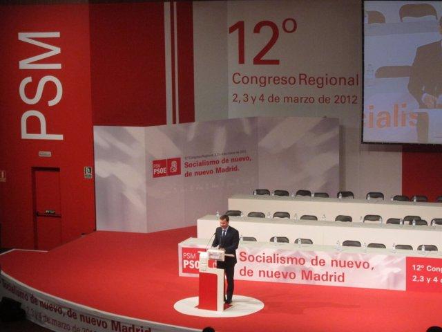 Tomás Gómez En El 12º Congreso Del PSM