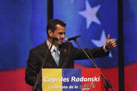 Candidato De La Mesa De Unidad Democrática, Henrique Capriles