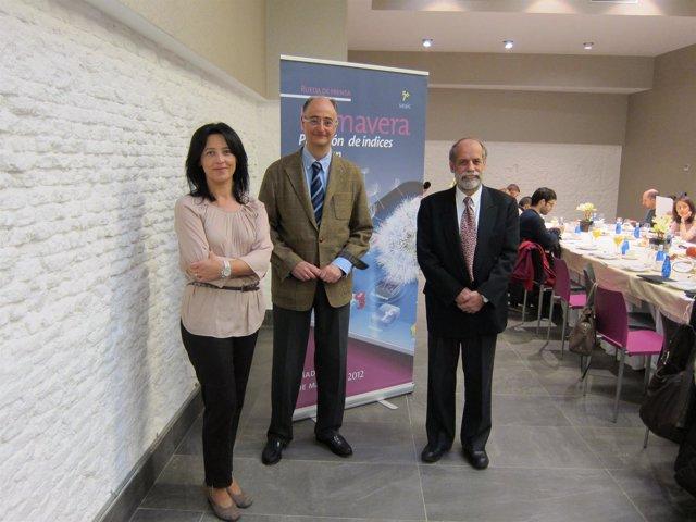 Los Doctores Vega, Olaguibel Y Feo, En La Presentación De Datos De Las Alergias