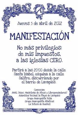 Cartel De La Manifestación Atea