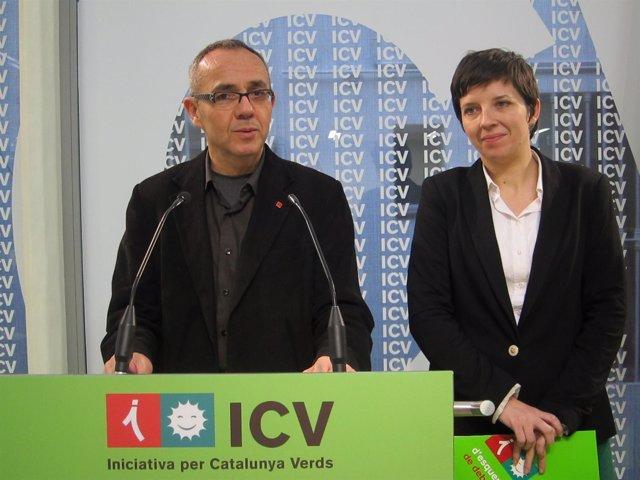 Joan Coscubiela Y Laia Ortiz, ICV
