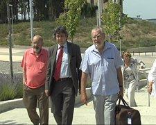 Fèlix Millet, el abogado Jordi Pina y Jordi Montull
