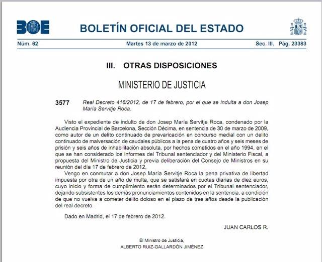 Indulto Josep Maria Servitje Por El 'Caso Treball'