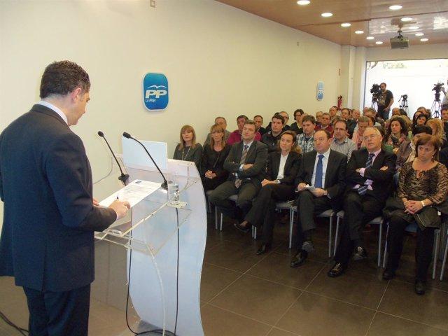 Cuevas Anuncia El XV Congreso Regional Del PP