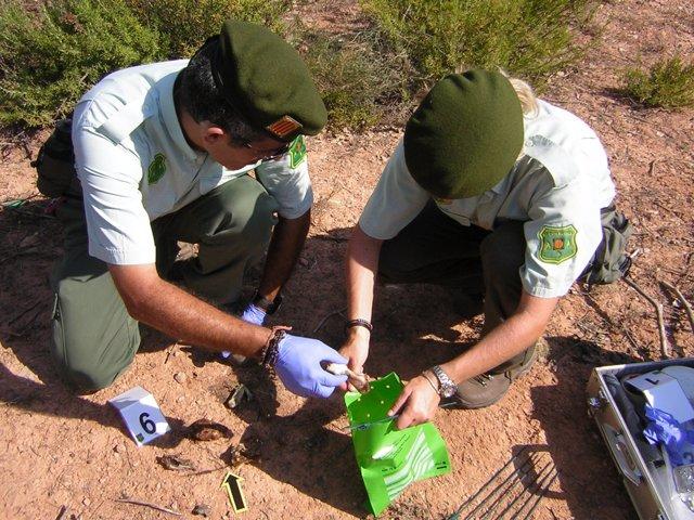 Agentes Rurales Recogiendo Muestras