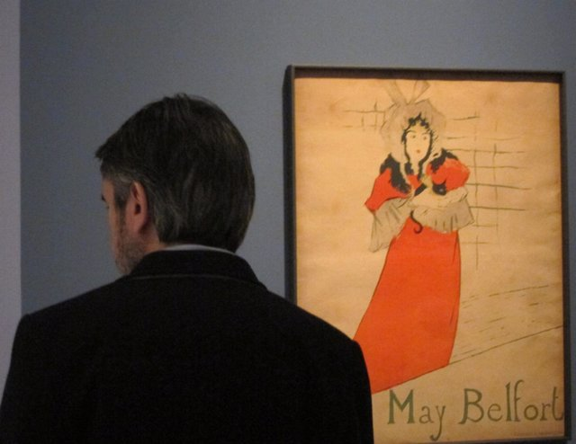 Un Espectador Ante Un Cartel De Tolouse-Lautrec