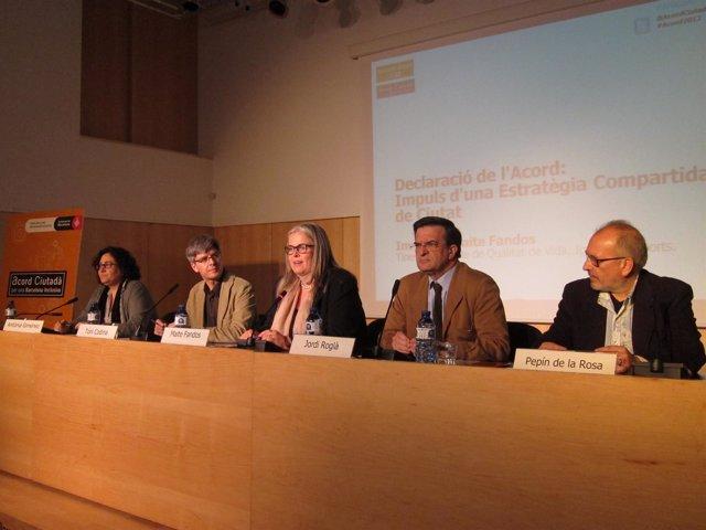 Antònia Giménez, Toni Codina, Maite Fandos, Jordi Roglà Y Pepín De La Rosa