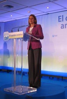 La Secretaria General Del PP-A, Dolores De Cospedal, En Un Acto En Sevilla